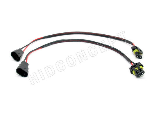 9006 (HB4) HID Ballast Kit Xenon Wire Harness Male Female Power Cable Plug (18