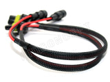 "9006 (HB4) HID Ballast Kit Xenon Wire Harness Male Female Power Cable Plug (18"") 