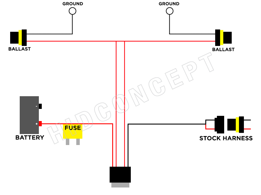 High Low Hid Relay Wiring hid wiring diagram with relay h4 ... Xenon Hid Conversion Wiring Diagram on