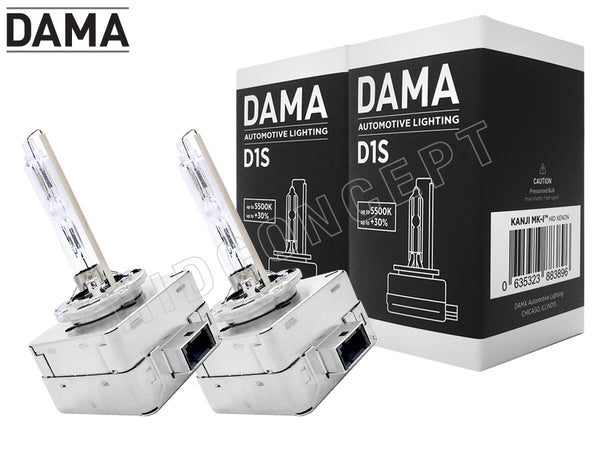 two bulbs DAMA D1S Kanji Ultimate Vision 5500K with the package