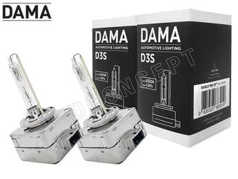 D3S - DAMA Kanji Ultimate Vision 5500K HID BULBS | Pack of 2