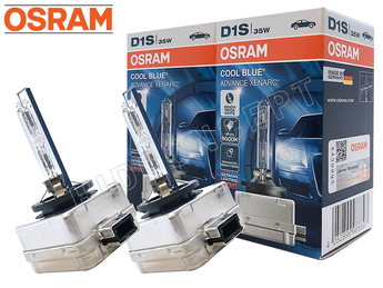 NEW! D1S - Osram 6000K Cool Blue Advance (66140CBA) HID Xenon Bulbs - Pack of 2