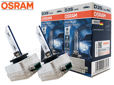 NEW! D3S - Osram 6000K Cool Blue Advance (66340CBA) HID Xenon Bulbs - Pack of 2