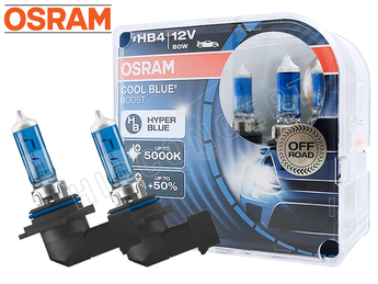 Unboxed view of Osram Cool Blue Boost HB4
