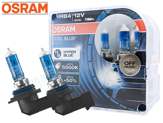 9006 (HB4) - Osram Cool Blue Boost Up to 5000K 69006CBB-HCB Bulbs (Pack of 2)