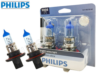 9008 (H13) - Philips Crystal Vision Ultra 4000K 9008CVB2 Bulbs (Pack of 2)