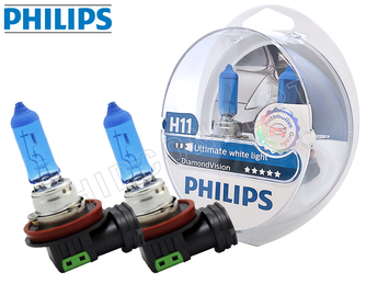 Philips Diamond Vision halogen bulbs with the package