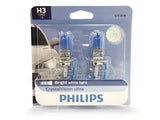packaged PHILIPS H3 Crystal Vision Bulbs