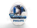 The front view of Philips Diamond Vision halogen bulbs with the package