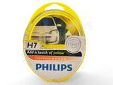 packaged PHILIPS H7 Color Vision Yellow Bulbs