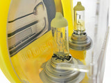close view of PHILIPS Color Vision Yellow Bulbs