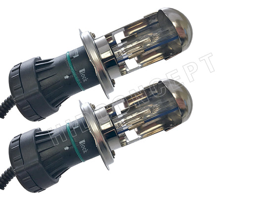 H4- DAMA 6000K HID Xenon Bulbs Dual Beams (Hi/Low) 35W (Set of 2)