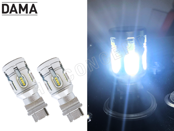 A set of white DAMA MINI LED bulbs
