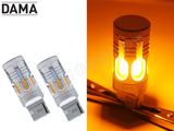 DAMA MINI LED 24CSP Amber unboxed view and light test
