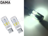 7440 - DAMA MINI LED Light Bulbs Canbus Error-Free 24CSP White / Amber | Pack of 2