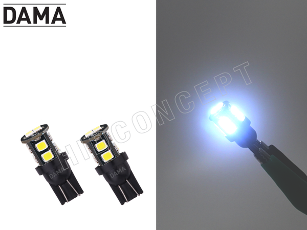 194 DAMA MINI LED Light Bulbs Canbus Error-Free T10 10SMD White Pack of 2