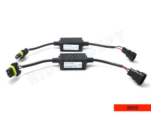 9005/9006 Decoder Error Canceller Wire Harness for LED Headlight (PACK of 2)