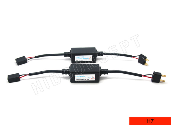 H7 Decoder Error Canceller Wire Harness for LED Headlighta