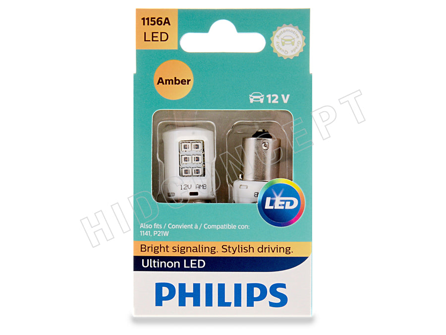 1156 Philips New Ultinon Led White Red Amber Bulbs Pack Of 2 Hid Concept
