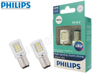 1157 - PHILIPS NEW Ultinon LED White / Red / Amber Bulbs | Pack of 2