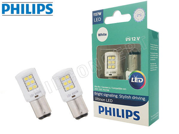 two PhilipsUltinon LED White Bulbs