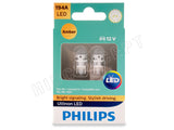 front view Philips Ultinon amber LED bulb package