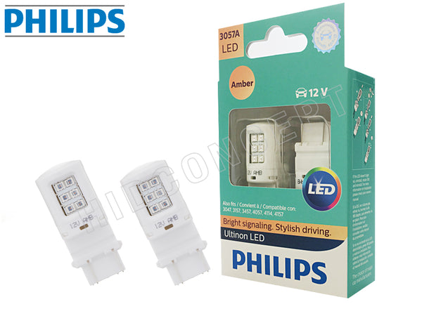 3057 - PHILIPS NEW Ultinon LED 3057AULAX2 Amber Bulbs | Pack of 2