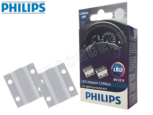 two opened PHILIPS LED 5W/21W CAN-bus Warning canceller