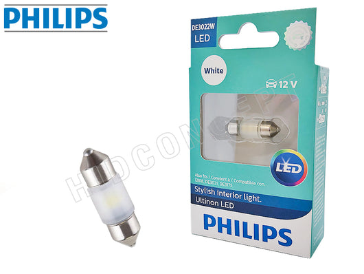 one bulb and package of PHILIPS DE3022 LED White Bulb