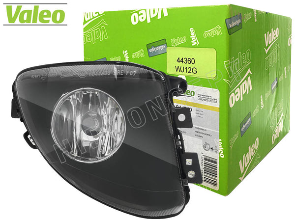 front view of box and #44360  Valeo OEM Fog Lamp for BMW 535i/550i BMW