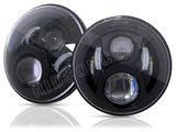 "Two 7"" LED Headlights for Jeep"
