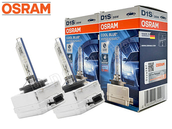 two bulbs of Osram D1S HID Cool Blue Hyper 6000K with the package