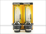 Two Philips D4S OEM HID bulbs with the package