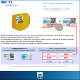Instruction in checking the authenticity of Philips HID bulb