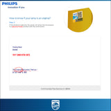 Instruction in checking the authenticity of Philips HID bulb with the final checking