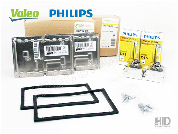 D1S - OEM VALEO LAD5GL 4-PIN HID Bundle SET (Ballasts + Bulbs)