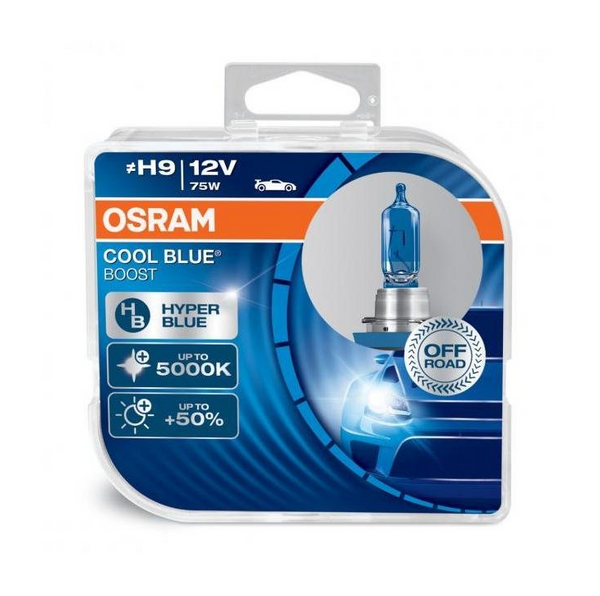 Front view of Osram Cool Blue Boost H9