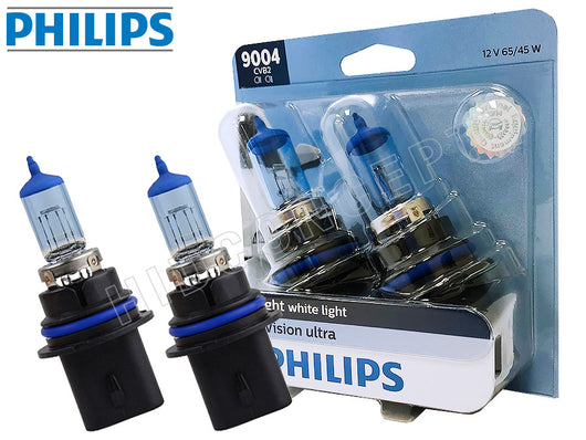 two opened of PHILIPS 9004 Crystal Vision Bulbs