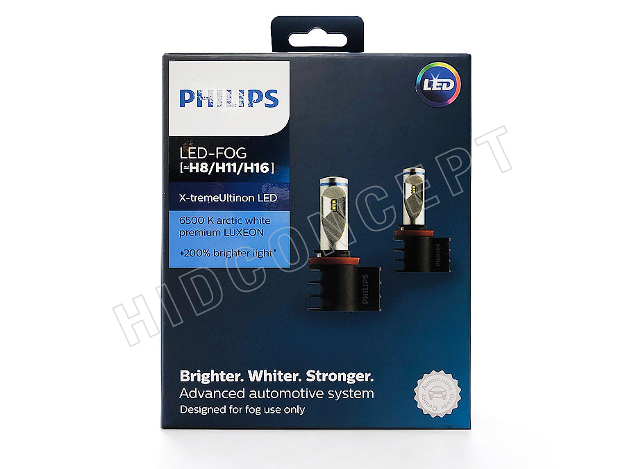 2 Of Kitpack X 6500k Philips Vision H8h11h16 Treme 12794unix2 Led bgf6yY7