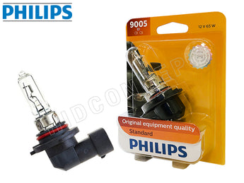 enclosed package and a opened 9005 Philips Standard 3000K