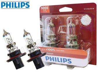 two opened of PHILIPS 9008 X-treme Vision Bulbs