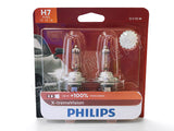 front view of PHILIPS H7 X-treme Vision Bulbs