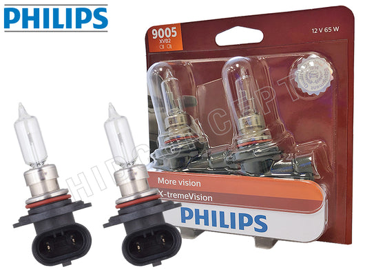 9005 Philips X-treme Vision +100% 9005XVB2 Bulbs package and two opened bulbs