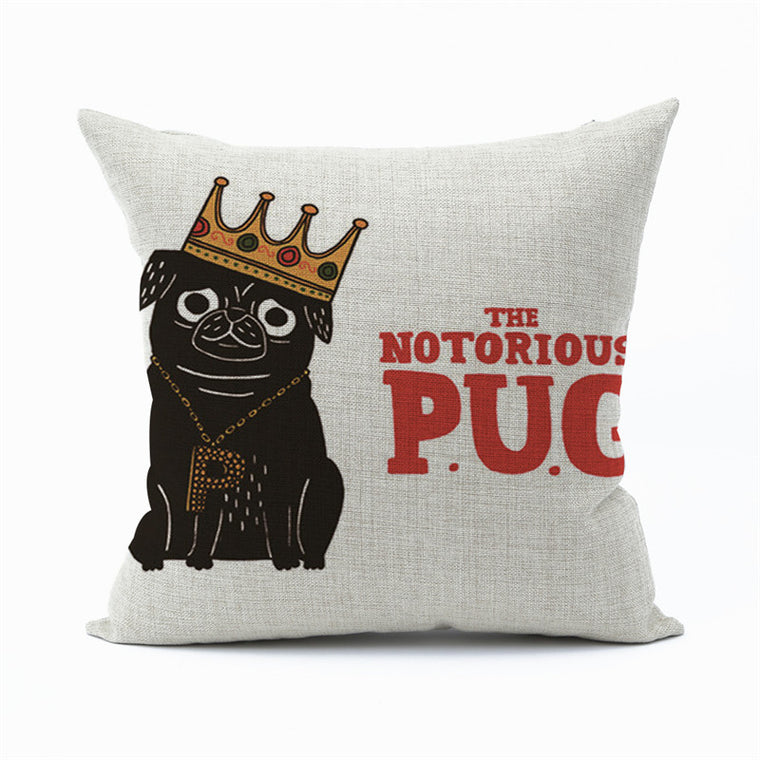 P.U.G. Throw Pillow