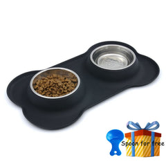 No Spill Steel Dog Bowl
