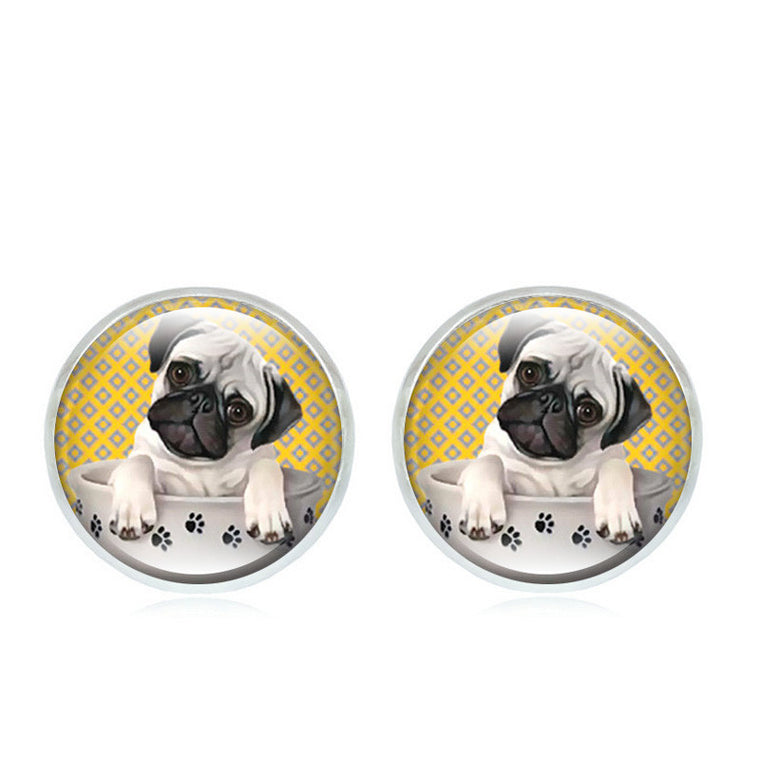 Teacup Pug Stud Earrings