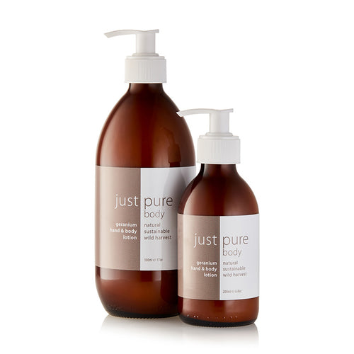 geranium hand and body lotion