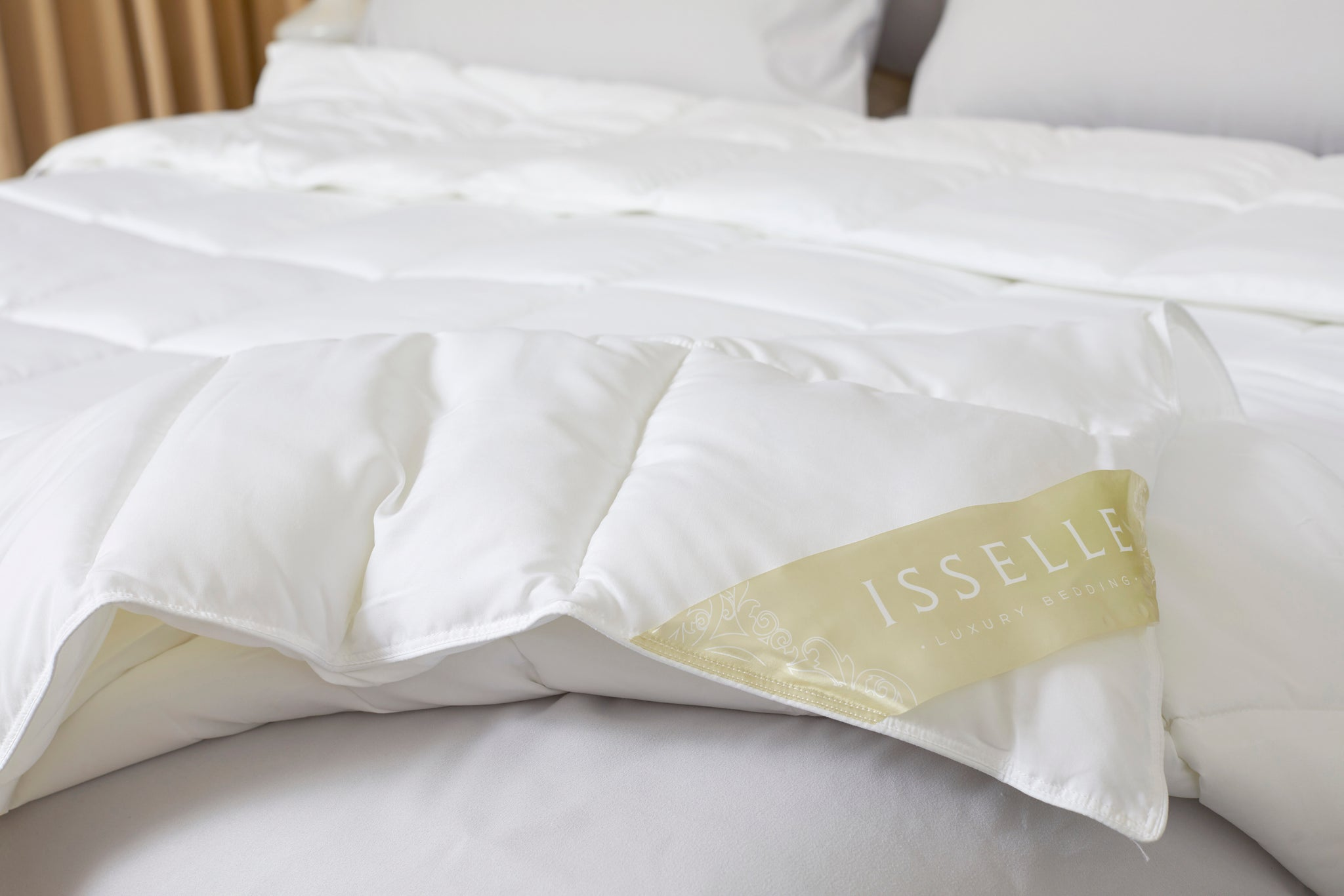Adair Comforter - King, Pearl White