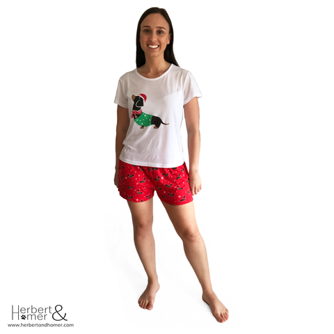 The Christmas Hound Short pyjama set has been designed for dog lovers ce...