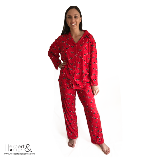 Christmas Hound Long Pyjama Set